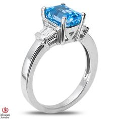 Ebay NissoniJewelry presents - Blue Topaz and Created White Sapphire Fashion Ring in Sterling Silver 925    Model Number:FR7950-SIBTCWSA    http://www.ebay.com/itm/Blue-Topaz-and-Created-White-Sapphire-Fashion-Ring-in-Sterling-Silver-925/221877919676