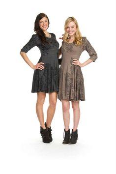 Papillon - Filigree Flare Sweater Dress in Dresses