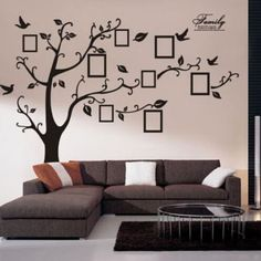 Family-Piture-Photo-Frame-Tree-Quote-Wall-Sticker-Vinyl-Removable-Decor-Decal