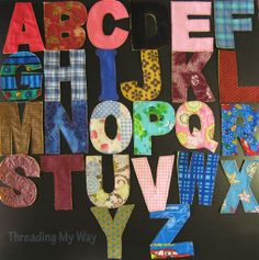 My fabric letters for the challenge