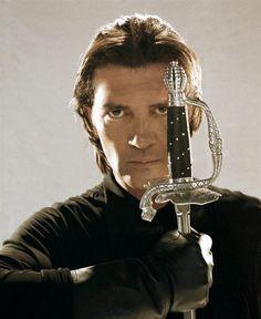 Antonio Banderas (probably a promo still for 'The Mask Of Zorro').