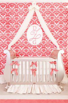 Glamorous nursery design - so many gorgeous details