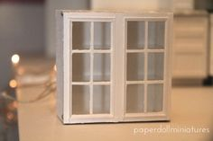 Paper Doll Miniatures: Step By Step Upper Kitchen Cabinets Use of magnets on doors