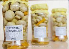 Przepisy Online: Pieczarki marynowane w occie Tiramisu, Stuffed Mushrooms, Cheese, Vegetables, Mad, Kitchen, Kitchens, Stuff Mushrooms, Cooking