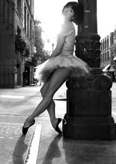 it reminds me of when I got out of my house in ballet clothes to dance in the street.  :)   Good times!