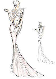 #RobertoCavalli dress worn by Gong Li in Cannes #Sketch