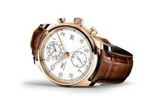 @iwcwatches Portugieser Chronograph Classic features an 18k rose gold case, a silver-plated dial with golden hands and appliqués and comes on a brown alligator leather strap.  It is powered by IWC's manufacture Caliber 89361.  More @ http://www.watchtime.com/wristwatch-industry-news/watches/iwc-updates-the-portugieser-chronograph-classic/ #watchtime #iwcwatches #chronograph