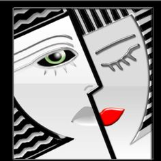 A Retro-Futuristic Redesign of Art Deco Icon Series Art Deco Artwork, Art Deco Paintings, Small Paintings, Art Nouveau, Color Pencil Sketch, Mini Canvas Art, Masks Art, Art Series, Art Deco Design