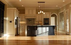 The Sagecrest House Plan Images - See Photos of Don Gardner House Plans Kitchen Redo, Kitchen Remodel, Open Kitchen, Kitchen Layout, Kitchen Windows, Cozy Kitchen, Island Kitchen, Kitchen Ideas, Style At Home