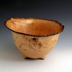 Wild Cherry Wood Turned Bowl by JLWoodTurning on Etsy, $145.00