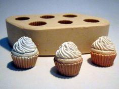 Mini Cupcakes, sabonete artesanal, molde de silicone, arte de modelar, molde de…