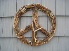 Driftwood Peace Sign Beach Decor Wall Decor by ASOULFULPURPOSE