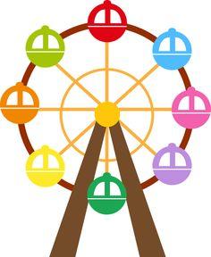 Roda Gigante colorida para imprimir