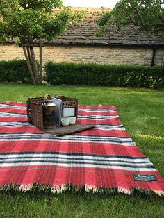 Vintage Bronte Tweed Travel Rug Picnic Blanket Picnic Rug.