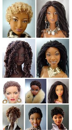 Dolls like this didn't exist when I was a kid. I want to buy all of them and play with them. Style their hair. <3