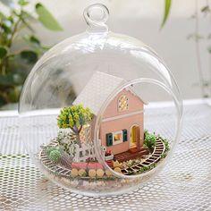 DIY Glass Ball Magic Garden Dollhouse Miniature Snow Ball Miniature Kit Handcraft Kit Gifts Toy Assembly Dollhouse Model Kit DIY Gift by UniTime on Etsy https://www.etsy.com/listing/217786985/diy-glass-ball-magic-garden-dollhouse