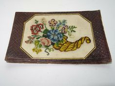 Needlework Old Sampler Embroidery Biedermeier gestickt Blumen Flowers Jhdt. Needlework, Embroidery, Ebay, Antiques, Flowers, Baby Crafts, Stationery, Postage Stamps, Clothing Accessories