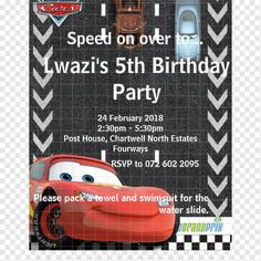 Shop Cars Birthday Invitation created by DisneyPixarCars. 5th Birthday, Birthday Parties, Cars Birthday Invitations, Rsvp, Party, Invitations, Birthday Celebrations, Anniversary Parties, Fiesta Party