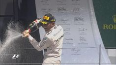 The spoils of victory for Lewis Hamilton