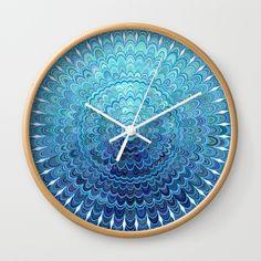 Frozen Oval Mandala Wall Clock