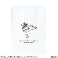Martial Arts Kick Party Favor Bag