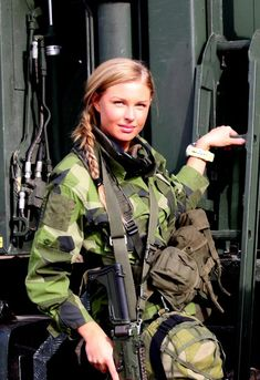 Swedish soldier with AK-5C rifle