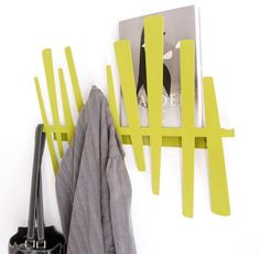 Wallter - Slat Rack at 2Modern  For towels in from pool door. Repeat in hallway by gym