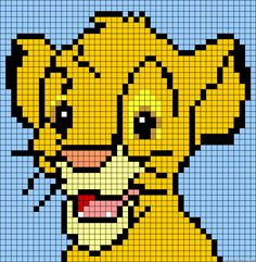 Simba - The Lion KIng perler bead pattern