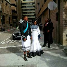 Nkosazana Nodiyala and Nkosi Zwelivelile Mandela in Xhosa traditional wear African Love, African Men, African Design, African Attire, African Dress, African Style, African Clothes, Ankara Dress, African Beauty