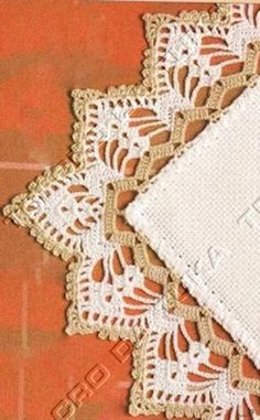 My Work: Crochet Edging. Follow me at http://www.facebook.com/Vacharamon