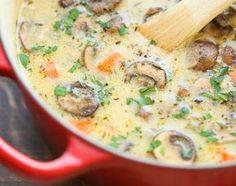 Наваристый суп с грибами и картофелем