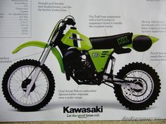 1982 Kawasaki KX80, my first motocross bike.