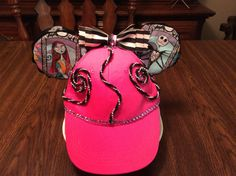 Nitemare ears hat Disney Ears Hat, Mickey Mouse Ears Hat, Mouse Ears Headband, Ear Headbands, Ear Hats, Inspired