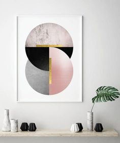 circles are the new trend Modern Art Deco, Modern Wall Decor, Modern Prints, Modern Art Paintings, Abstract Paintings, Indian Paintings, Oil Paintings, Painting Art, Watercolor Painting