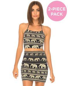 Fonda Crop and Kimmy Skirt Pack | Motel