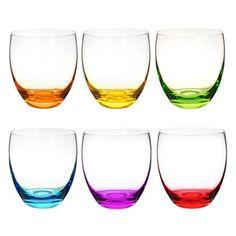 Set of 6 colorama glasses