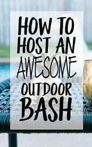 During the summer, outdoor bashes are commonplace. Be the best host with these eight ways to make your outdoor bash awesome. The best way to make the outdoor parties an immediate success is to anticipate...