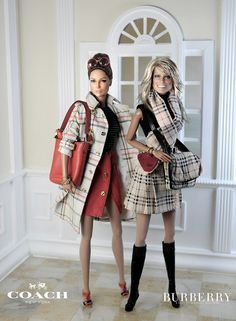 Jennifer Lopez & Farrah Fawcett in burberry & coach Burberry Plaid, Burberry Prorsum, My Fair Lady, Farrah Fawcett, Plaid Fashion, Barbie Collector, Barbie Friends, Barbie World, Barbie And Ken