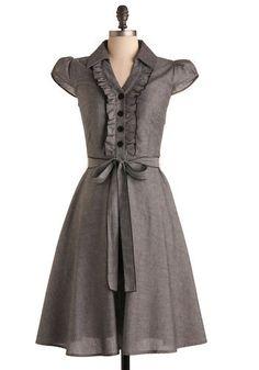 feminine shirt dress