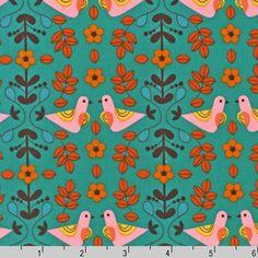 TISSU OISEAUX RUSSES coupon de 45 x 115cm : Tissus à thème par ohzeze