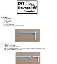 Homemade Holiday: DIY Marshmallow Shooter Kit (great gift for boys ~ or girls!)