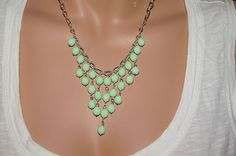 Chandelier Necklace Bead Necklace Bib Statement by Trendydeals