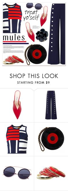 """""""Enter contest Draft Saved Open New         WomenMenHomeMy ItemsCollectionsContestPants× × × × ×Colors×Magazine Ar...×Magazine Ar...× × Slip 'Em On: Mules"""" by spenderellastyle ❤ liked on Polyvore featuring Attico, Tory Burch, Tommy Hilfiger and Chanel"""
