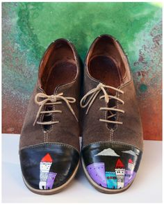 lucian szekely-rafan a. Men Dress, Dress Shoes, Painted Shoes, Derby, Anxiety, Oxford Shoes, Lace Up, Concept, Art