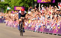 Bradley Wiggins nears the finishing line on his way to collecting his seventh Olympic medal