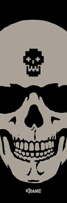 Vertiskull #black by #krane #skull Skulls, Darth Vader, Sugar, Superhero, Fictional Characters, Black, Skull, Black People, Fantasy Characters