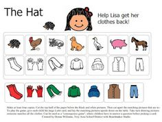 """Matching Game Board for """"The Hat"""" by Jan Brett More"""