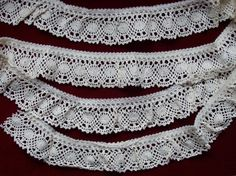 Vintage Cluny Lace Trim 100 Percent Cotton Ivory  or Natural 2 yds x 1 7/8 inches wide