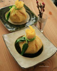 ChaKin sushi ひな祭り寿司 肉とコーンの茶巾寿司とふくさ寿司