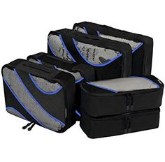 n 1 3 Set Packing Cubes,2 Various Sizes Travel Luggage Packing Organizers Winter Landscape